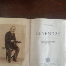 Libros de segunda mano: LEYENDAS DE JOSÉ ZORRILLA. EDITORIAL AGUILAR. 2 EDICIÓN. 1951.. Lote 54775798