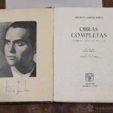 Libros de segunda mano: 5802 - OBRAS COMPLETAS. FEDERICO GARCIA LORCA. EDI. AGUILAR. 1960.. Lote 160227558