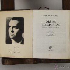 Libros de segunda mano: 5270- FEDERICO GARCIA LORCA OBRAS COMPLETAS. EDIT. AGUILAR. 1965.. Lote 45498678