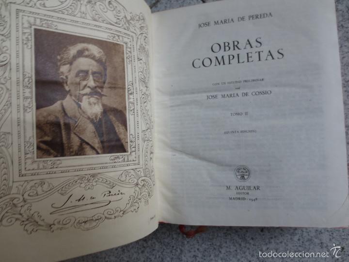 Libros de segunda mano: OBRAS COMPLETOS TOMO 2 JOSÉ MARIA DE PEREDA EDIT AGUILAR AÑO 1948 - Foto 3 - 55115837