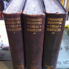 Libros de segunda mano: DOSTOYEVSKI. OBRAS COMPLETAS. AGUILAR. 1953. Lote 55180370