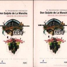 Libros de segunda mano: DON QUIJOTE DE LA MANCHA - EL INGENIOSO HIDALGO / MIGUEL DE CERVANTES / 2 TOMOS / MUNDI-1401. Lote 148765774