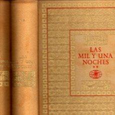 Libros de segunda mano: LAS MIL Y UNA NOCHES (DOS TOMOS CON SUS ESTUCHES, NAUTA, 1964) GRAN FORMATO, ILUSTRADO POR NARRO. Lote 55906234