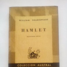 Libros de segunda mano: HAMLET. W. SHAKESPEARE. COLECCIÓN AUSTRAL Nº 27. 13ªED. ESPASA CALPE. Lote 56013711
