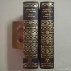 Libros de segunda mano: LUJOSA EDICIÓN AGUILAR DE OBRAS COMPLETAS DE ROMULO GALLEGOS.1959. 2 TOMOS. Lote 56523544