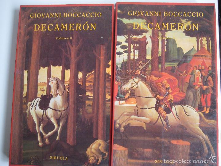 GIOVANNI BOCCACCIO. DECAMERÓN I Y II. SIRUELA, 1990. 1ª EDICIÓN. TRADUCCIÓN DE PILAR GÓMEZ BEDATE (Libros de Segunda Mano (posteriores a 1936) - Literatura - Narrativa - Clásicos)