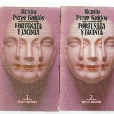 Libros de segunda mano: FORTUNATA Y JACINTA. BENITO PÉREZ GALDÓS. 2 TOMOS. ALIANZA EDITORIAL. MADRID. 1983. Lote 219856042