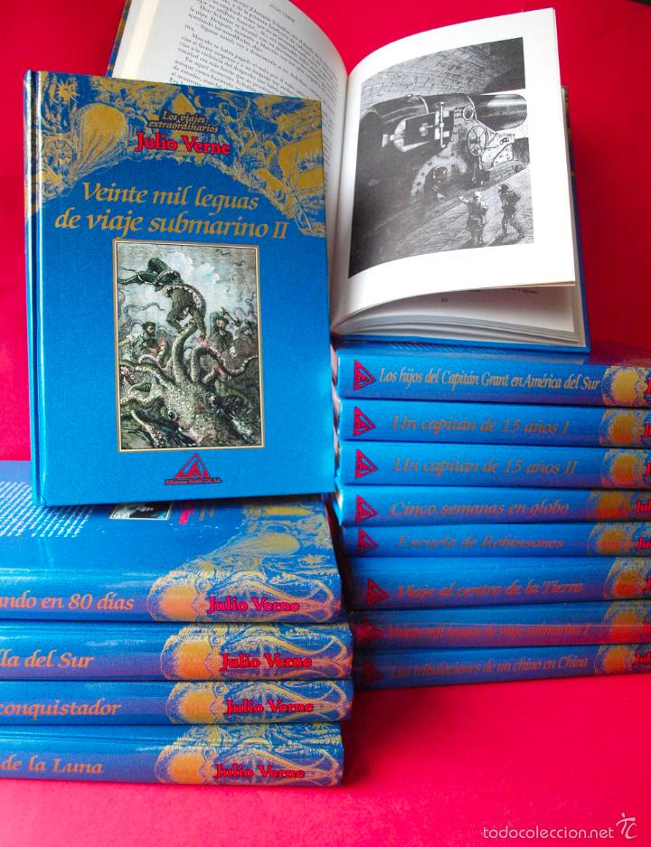 LOS VIAJES EXTRAORDINARIOS - JULIO VERNE - COLECCIÓN COMPLETA 14 VOLÚMENES - EDICIONES RUEDA (Libros de Segunda Mano (posteriores a 1936) - Literatura - Narrativa - Clásicos)