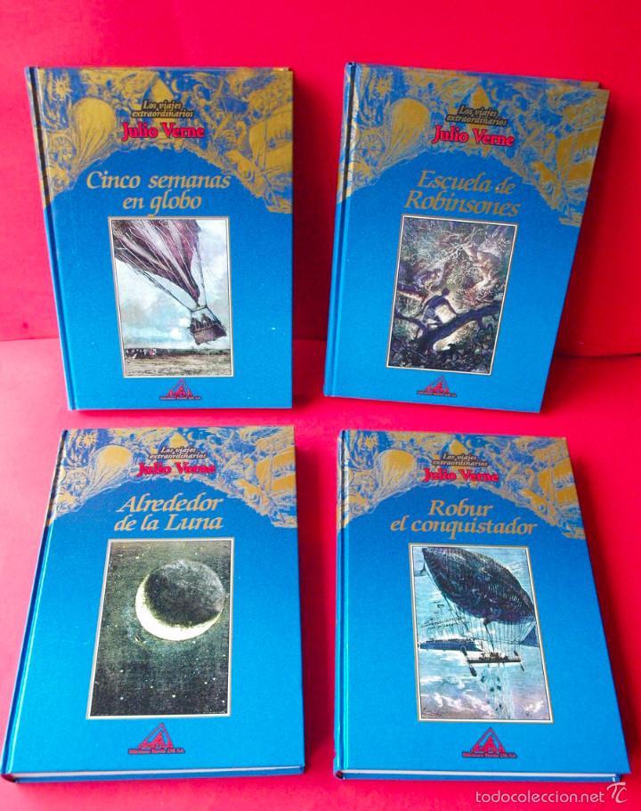 Libros de segunda mano: LOS VIAJES EXTRAORDINARIOS - JULIO VERNE - COLECCIÓN COMPLETA 14 VOLÚMENES - EDICIONES RUEDA - Foto 2 - 56869578
