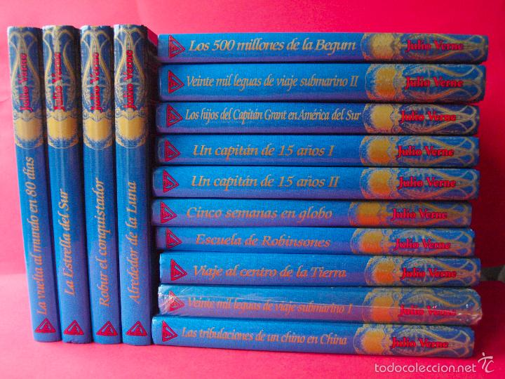 Libros de segunda mano: LOS VIAJES EXTRAORDINARIOS - JULIO VERNE - COLECCIÓN COMPLETA 14 VOLÚMENES - EDICIONES RUEDA - Foto 3 - 56869578