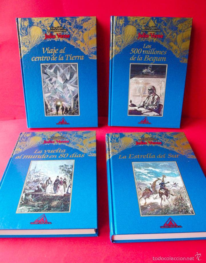 Libros de segunda mano: LOS VIAJES EXTRAORDINARIOS - JULIO VERNE - COLECCIÓN COMPLETA 14 VOLÚMENES - EDICIONES RUEDA - Foto 4 - 56869578