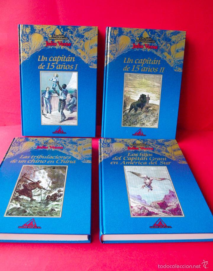 Libros de segunda mano: LOS VIAJES EXTRAORDINARIOS - JULIO VERNE - COLECCIÓN COMPLETA 14 VOLÚMENES - EDICIONES RUEDA - Foto 5 - 56869578