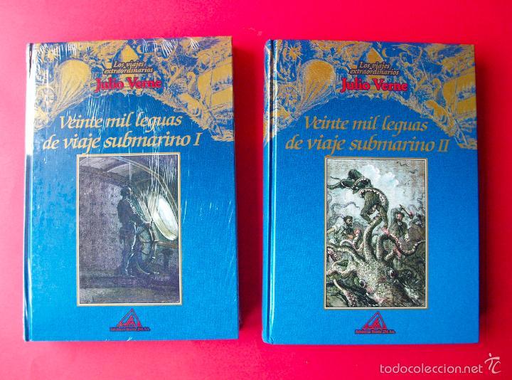Libros de segunda mano: LOS VIAJES EXTRAORDINARIOS - JULIO VERNE - COLECCIÓN COMPLETA 14 VOLÚMENES - EDICIONES RUEDA - Foto 6 - 56869578