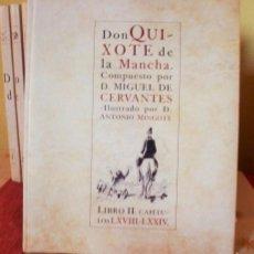 Libros de segunda mano: DON QUIJOTE DE LA MANCHA, COMPUESTO POR D. MIGUEL DE CERVANTES E ILUSTRADO POR MINGOTE EN 10 TOMOS. Lote 56706707