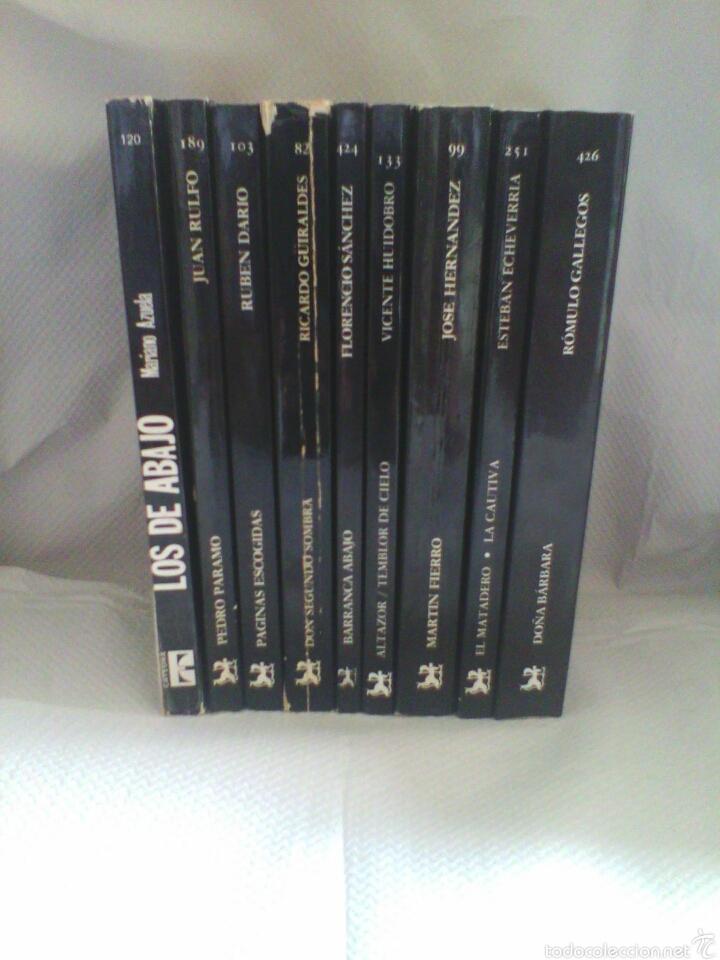 LOTE 9 LIBROS CLÁSICOS LITERATURA HISPANOAMERICANA (EDICIONES CÁTEDRA) (Libros de Segunda Mano (posteriores a 1936) - Literatura - Narrativa - Clásicos)