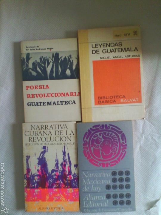 LOTE 4 LIBROS LITERATURA HISPANOAMERICANA (Libros de Segunda Mano (posteriores a 1936) - Literatura - Narrativa - Clásicos)