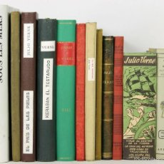 Libros de segunda mano: 7549 - LOTE DE 12 EJEMPLARES. JULIO VERNE.(VER DESCRIP). EDIT. VARIAS. 1954-1962.. Lote 57059212
