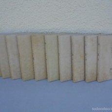Libros de segunda mano: DON QUIJOTE DE LA MANCHA. ILUSTRADO POR ANTONIO MINGOTE. MIGUEL DE CERVANTES. 10 TOMOS OBRA COMPLETA. Lote 57259144
