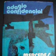 Libros de segunda mano: ADAGIO CONFIDENCIAL. MERCEDES SALISACHS. PLANETA 1973 TAPA DURA CON SOBRECUBIERTA.. Lote 57272844