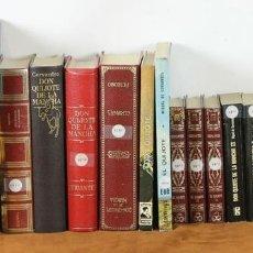 Libros de segunda mano: 7598. COLECCION DE 23 EDICIONES DEL QUIJOTE. MIGUEL DE CERVANTES. 1970-1979. . Lote 57299077