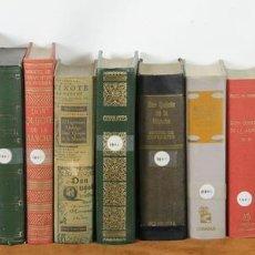 Libros de segunda mano: 7599. COLECCION DE 16 EDICIONES DEL QUIJOTE. MIGUEL DE CERVANTES. 1960-1969.. Lote 57317891