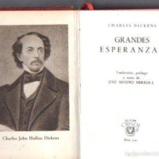 Libros de segunda mano: AGUILAR CRISOL Nº 130 : CHARLES DICKENS - GRANDES ESPERANZAS (1945). Lote 183299075