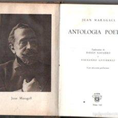 Libros de segunda mano: AGUILAR CRISOL Nº 165 : JUAN MARAGALL - ANTOLOGIA POETICA (1946). Lote 57363718