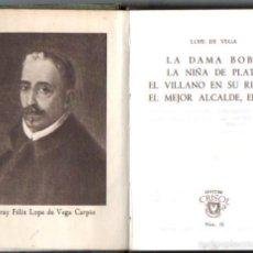 Libros de segunda mano: AGUILAR CRISOL Nº 32 : LOPE DE VEGA - LA DAMA BOBA Y OTRAS OBRAS (1944). Lote 57363792