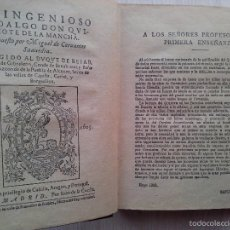 Libros de segunda mano: DON QUIJOTE DE LA MANCHA. EDICIÓN CALLEJA PARA ESCUELAS.CON ILUSTRACIONES DE M.ANGEL 1905. Lote 57472010