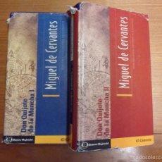 Libros de segunda mano: DON QUIJOTE DE LA MANCHA. 2 TOMOS. MIGUEL DE CERVANTES. EDAF. Lote 57502964