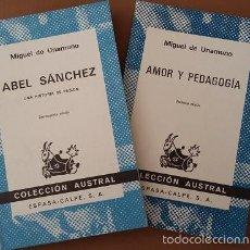 Libros de segunda mano: LOTE MIGUEL DE UNAMUNO EDITORIAL ESPASA CALPE, COLECCION AUSTRAL. Lote 57566086