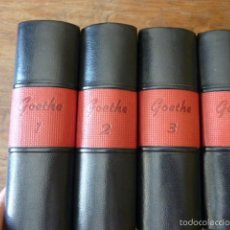 Libros de segunda mano: GOETHE.- OBRAS COMPLETAS AGUILAR /MÉJICO-AÑOS 90.ENCUADERNACIÓN EN PIEL DISTINTA. 4 VOLS. Lote 57759174