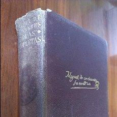 Libros de segunda mano: MIGUEL CERVANTES SAAVEDRA / OBRAS COMPLETAS / AGUILAR 9ª EDICIÓN 1952. Lote 57891475