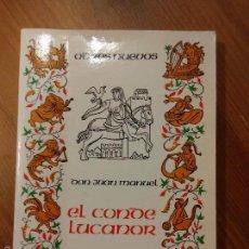 Libros de segunda mano: EL CONDE LUCANOR. DON JUAN MANUEL. Lote 57937609