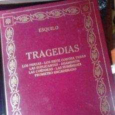 Libros de segunda mano: TRAGEDIAS. ESQUILO. Lote 57947066