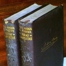 Libros de segunda mano: OBRAS COMPLETAS 2T POR JOSÉ MARÍA DE PEREDA DE ED. AGUILAR EN MADRID 1964/1965. Lote 57997549