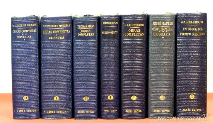 Libros de segunda mano: 7801 - LOS CLÁSICOS DEL SIGLO XX. 7 TOMOS(VER DESCRIP). VV. AA. EDIT. JANÉS. 1950/52. - Foto 2 - 151078377