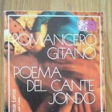 Libros de segunda mano: FEDERICO GARCIA LORCA; ROMANCERO GITANO Y POEMA DEL CANTEJONDO. SELECCIONES AUSTRAL. Lote 58161379
