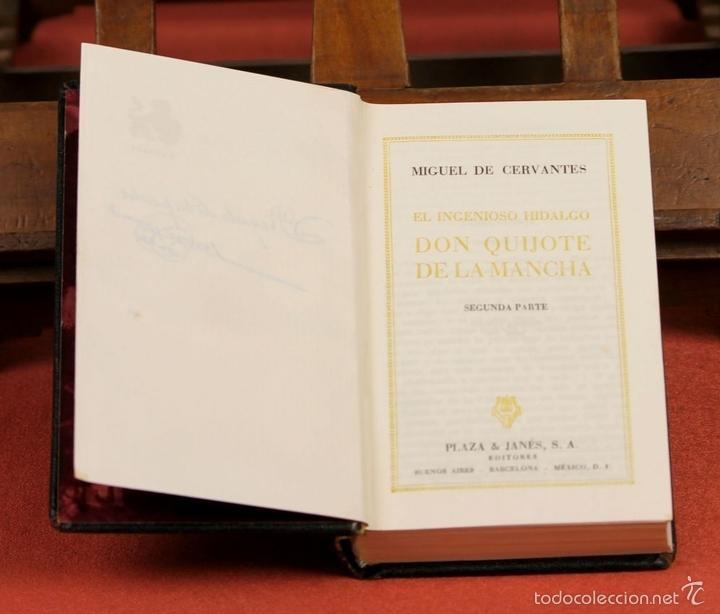 Libros de segunda mano: LP-284 - DON QUIJOTE DE LA MANCHA. 2 TOMOS(VER DESCRIP). CERVANTES. EDI. PLAZA Y JANÉS. 1961. - Foto 2 - 58243556