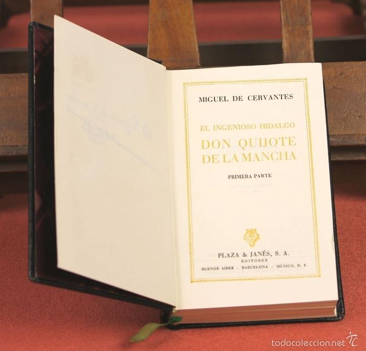 Libros de segunda mano: LP-284 - DON QUIJOTE DE LA MANCHA. 2 TOMOS(VER DESCRIP). CERVANTES. EDI. PLAZA Y JANÉS. 1961. - Foto 5 - 58243556