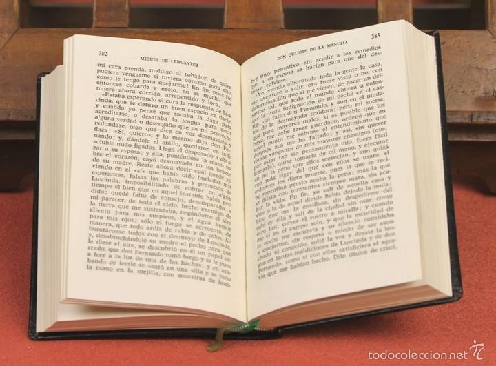 Libros de segunda mano: LP-284 - DON QUIJOTE DE LA MANCHA. 2 TOMOS(VER DESCRIP). CERVANTES. EDI. PLAZA Y JANÉS. 1961. - Foto 6 - 58243556