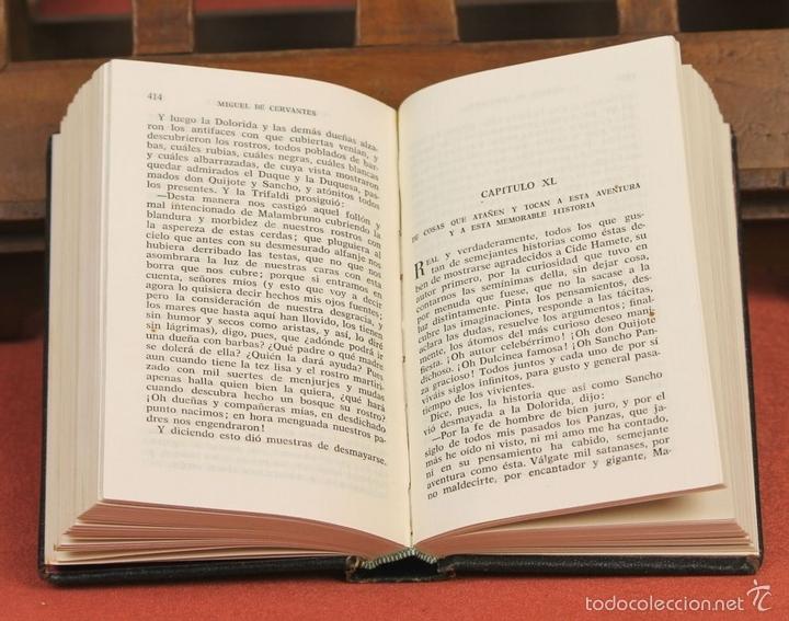 Libros de segunda mano: LP-284 - DON QUIJOTE DE LA MANCHA. 2 TOMOS(VER DESCRIP). CERVANTES. EDI. PLAZA Y JANÉS. 1961. - Foto 7 - 58243556