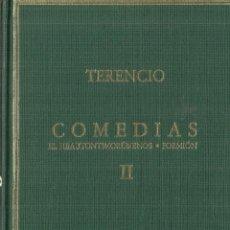 Libros de segunda mano: COMEDIAS. TERENCIO. VOLUMEN II. 2ª EDICIÓN. C. SUPERIOR DE INVESTIGACIONES CIENTÍFICAS. MADRID.1991. Lote 58292358