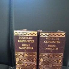 Libros de segunda mano: OBRAS COMPLETAS. MIGUEL DE SERVANTES SAAVEDRA. AGUILAR. 2004 SANTILLANA. NUEVO 2 TOMOS.. Lote 58378931