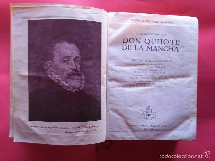 DON QUIJOTE DE LA MANCHA MIGUEL DE CERVANTES GUSTAVO DORE 1947 IV CENTENARIO EDITORIAL CASTILLA (Libros de Segunda Mano (posteriores a 1936) - Literatura - Narrativa - Clásicos)