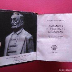 Libros de segunda mano: ANDANZAS Y VISIONES ESPAÑOLAS MIGUEL DE UNAMUNO AGUILAR CRISOL Nº 11 1957. Lote 58526211