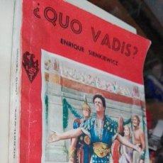 Libros de segunda mano: QUO VADIS SOPENA 1954. Lote 59705547