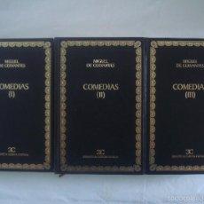Libros de segunda mano: MIGUEL DE CERVANTES. COMEDIAS, 2001. TRES TOMOS, BIBLIOTECA CLASICA CASTALIA.. Lote 60127903