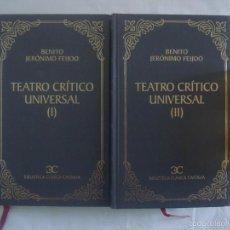 Libros de segunda mano: BENITO JERÓNIMO JEIJOO, TEATRO CRÍTICO UNIVERSAL. 2001. DOS TOMOS.. Lote 60128959