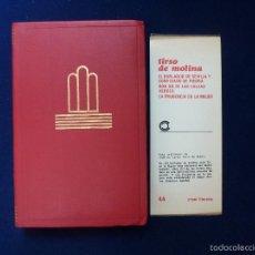 Libros de segunda mano: TIRSO DE MOLINA.EL BURLADOR DE SEVILLA. CRISOL LITERARIO Nº 44. Lote 60259335